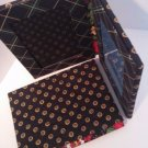 Vera Bradley Double Photo Picture Frame X2 Vibrant Black freestanding  Retired album