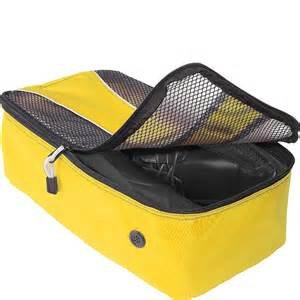 """eBags Shoe Bag travel case CANARY yellow  flat packing accessory FS 13.75""""x7""""x4.5"""""""
