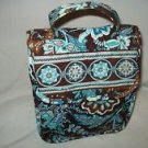 Vera Bradley Out to Lunch Java Blue FS travel cosmetic medicine bottle bag tote  NWT Retired