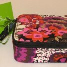 Vera Bradley Travel Pill Case Rosewood 7 Day 8 compartment box FS