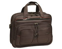 "Travelers Club 17"" Flex-File Laptop business case luggage Mocha Brown mint pre-owned"