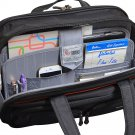 """Travelers Club 17"""" Flex-File Laptop business case luggage Mocha Brown mint pre-owned"""