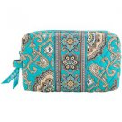 Vera Bradley Medium Cosmetic Make-up Bag Totally Turq  Retired aqua blue