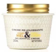 L'occitane Honey Lemon Delightful Cream FS � Large 8.8 oz. 250ml  Disc'd