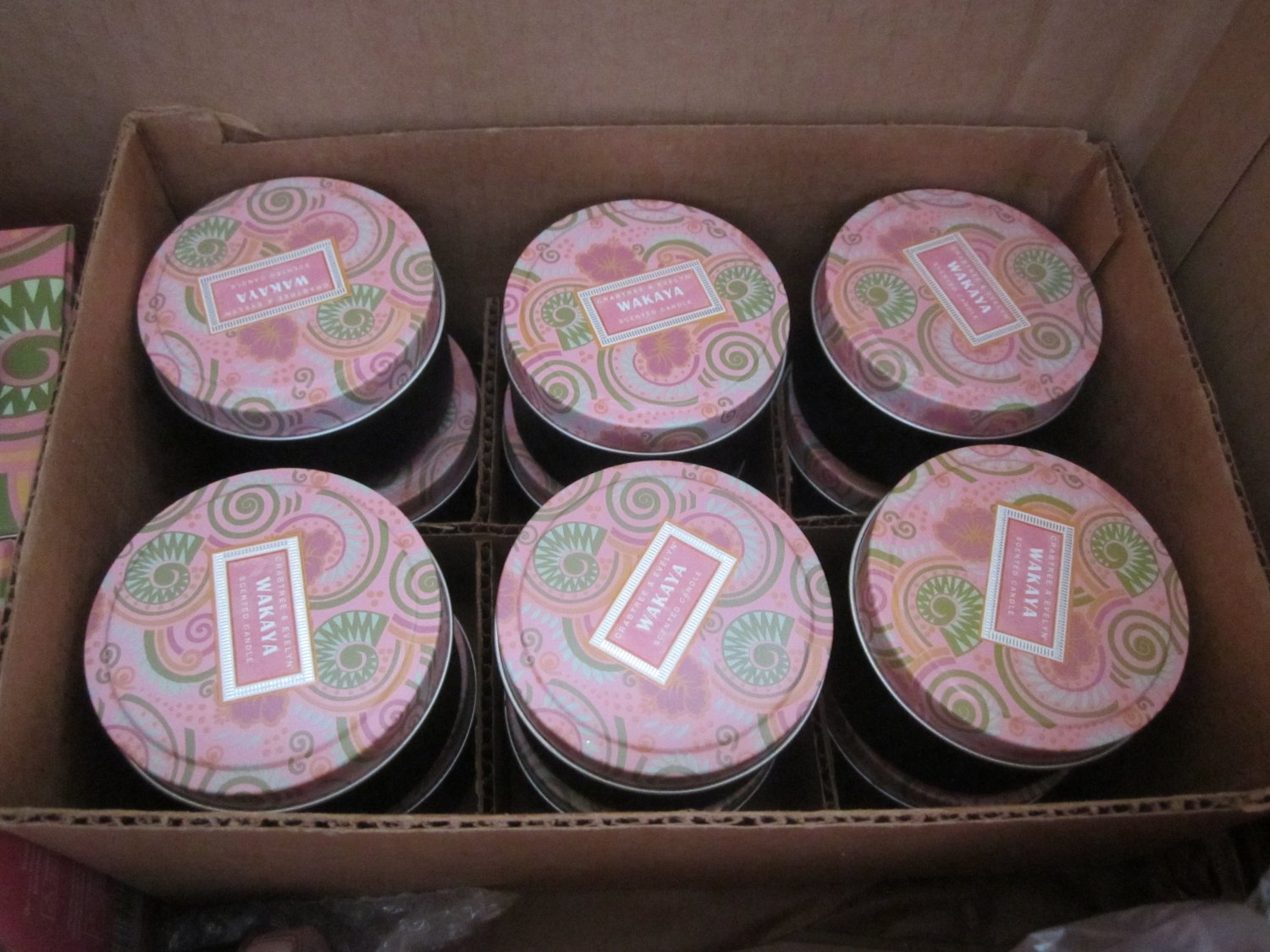 Crabtree Evelyn Wakaya Travel Candles X6  FS Coconut Tiare Flower Tropical scent Disc'd