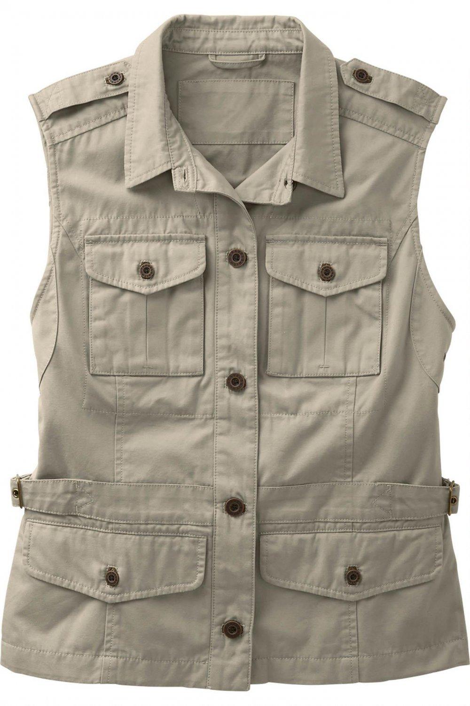 Travelsmith Bush Poplin Safari Vest 2X 22-24  NWT multi pocket travel sports fishing