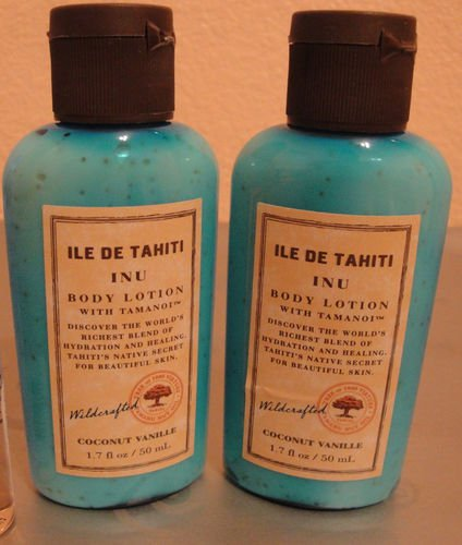 Bath Body Works Ile de Tahiti INU 1.7oz X2 Travel Lotion FS Coconut Vanille 1.7 oz / 50 ml