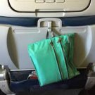 Flight 001 Seat Pack Green mint travel in-flight organizer case zip clutch packing accessory