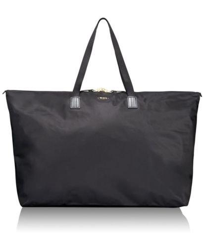Tumi Voyager JICtravel tote duffel Just In Case black nylon FS