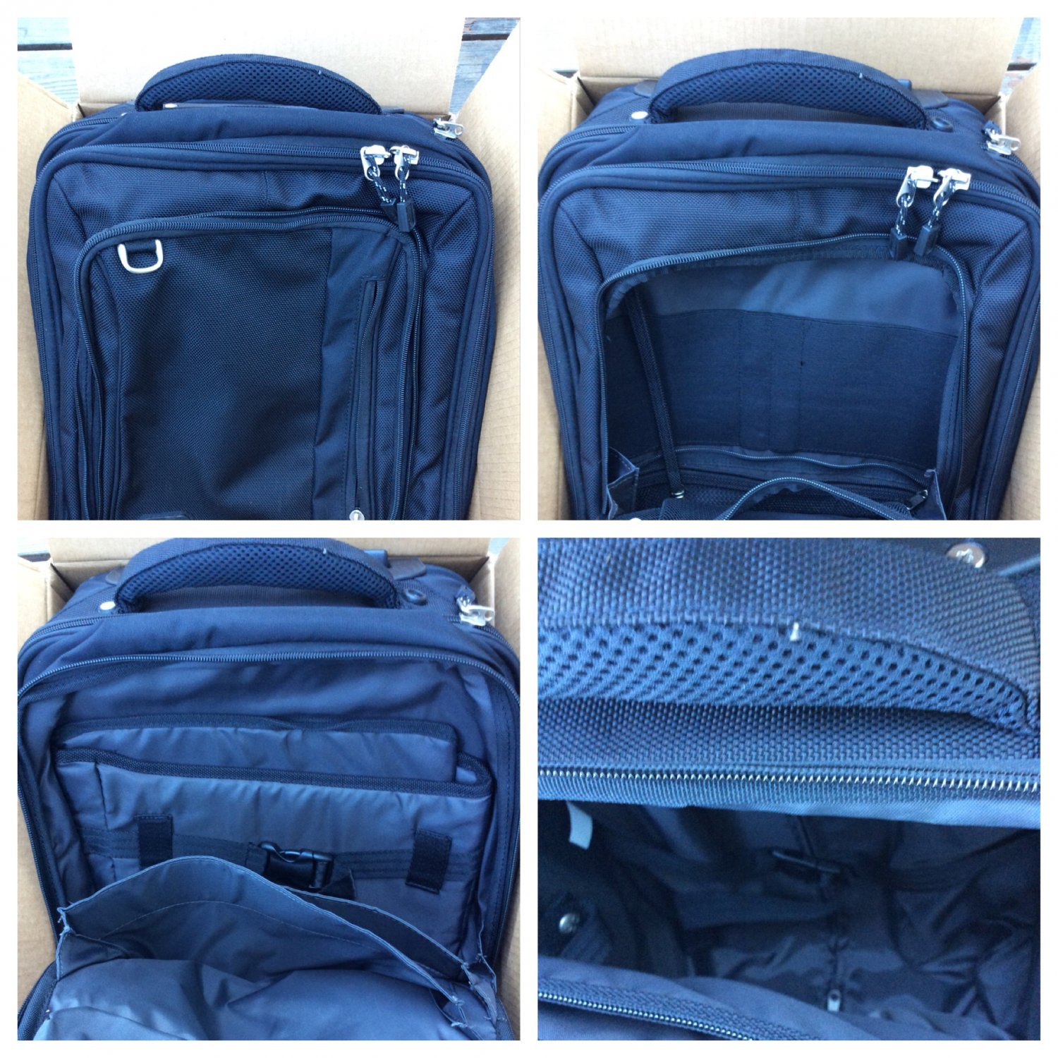 eBags Perspective Mobile Office rolling tech case Black carry-on underseater retired