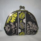 Vera Bradley Double Kiss Coin purse Baroque • small pda change makeup clutch   Retired
