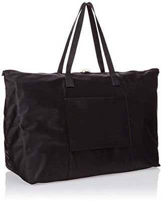 Tumi Voyager JIC foldable travel tote Just In Case black nylon FS