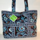 Vera Bradley Java Blue Large Tic Tac Tote  XL weekend overnight diaper Retired NWT