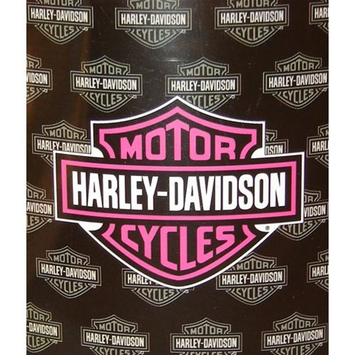 Harley Davidson Fleece Blanket-Pink Logo