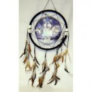 "13"" Wolf Dream Catcher w/ Feathers"