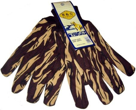 Brown Camo Jersey Gloves