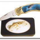 Bass Fishing Knife in Metal Tin