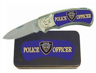 Police Man Knife in Metal Tin