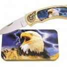 Eagle on Flag Knife in Metal Tin