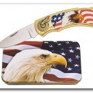 Eagle Chopper Flag Knife in Metal Tin