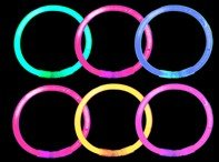 50 Glow Stick Bracelets - Assorted colors