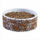 Leopard Print Ceramic Dog Bowls