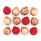 Red and Gold Christmas Ornaments