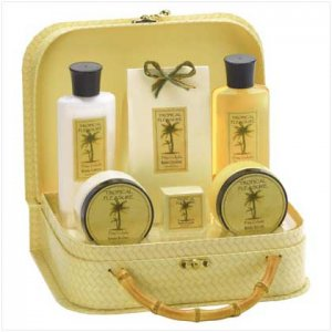 Pineapple Bath Set in Handbag