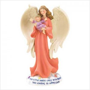 Angel with Baby Figurine