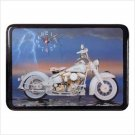 White Motorcycle Clock