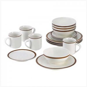 Cocoa Circle Dinnerware - 16 pc.