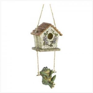 Swinging Frog Birdhouse