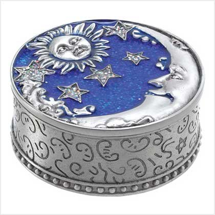 Celestial Pewter Trinket Box