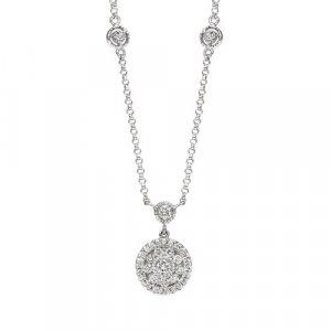 14 White Gold Diamond Necklace