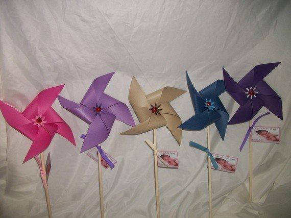 "Unquie 6"" paper pinwheels"