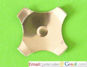 Gold Plated Cross (4-leg) Series Metal Dome