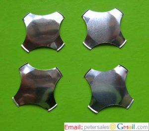 Metal Snap Dome -Cross - No Dimple- Diameter 12mm