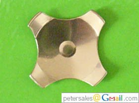 Snap Dome- Cross Dome, 4-Legs, Center Dimple, Dia 10mm