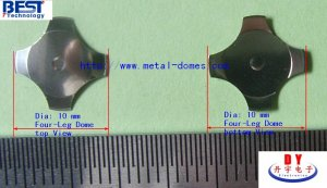 10mm Four-legs Metal Dome 450gf
