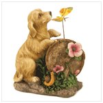 Puppy Love Solar Light-Up Statue