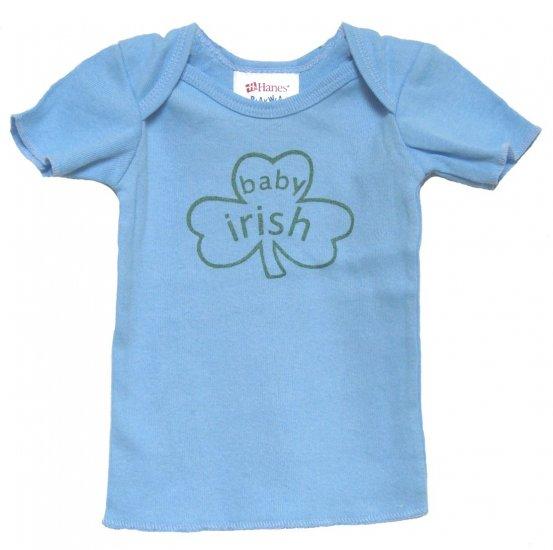 Baby Irish Shamrock Blue Shirt (6, 12, 18 & 24 mos.)