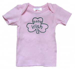 Baby Irish Shamrock Pink Shirt (6, 12, 18 & 24 mos.)