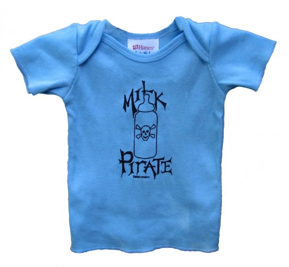 Milk Pirate Baby Bottle with Skull Blue (6, 12, 18, 24mos.)