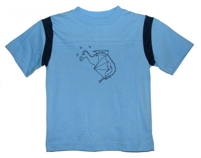 Flying Dragon Blue and Navy Shirt (Child sizes 2T, 4T)