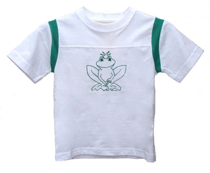 Frog Prince White and Green Shirt (Child Szs. 2T, 4T, 6, and 8)