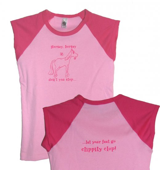Horse Mother Goose Nursery Rhyme Shirt (Girls 8 and10)