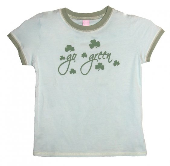 Go Green Shamrock Hyp Shirt (Girls sz. 7/8, 10/12, 14/16)