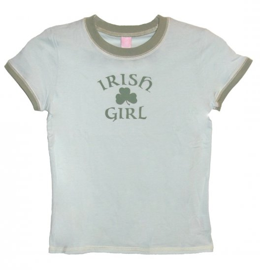 Irish Girl Shamrock Hyp Shirt (Girls sz. 7/8, 10/12, 14/16)