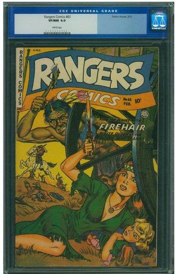Rangers Comics #63 (CGC 9.0) 2ND HIGHEST GRADED