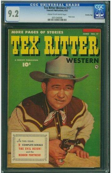 Tex Ritter Western #17 (CGC 9.2) HIGHEST GRADED